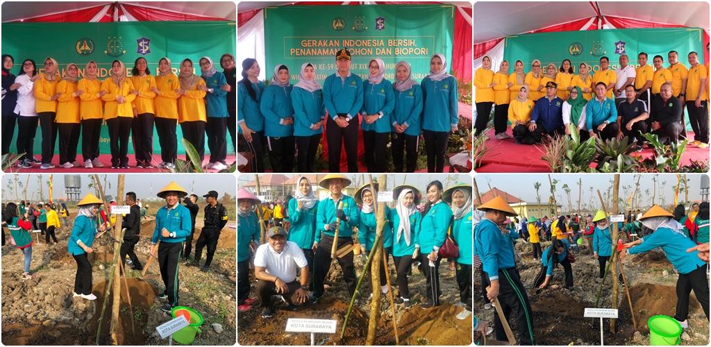 """"""" Gerakan Indonesia Bersih , Penanaman Pohon dan Biopori"""" tanggal 03-07-2019"""