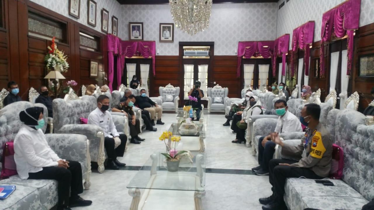 Rapat Koordinasi membahas permasalahan Kamtibnas 27-04-2020