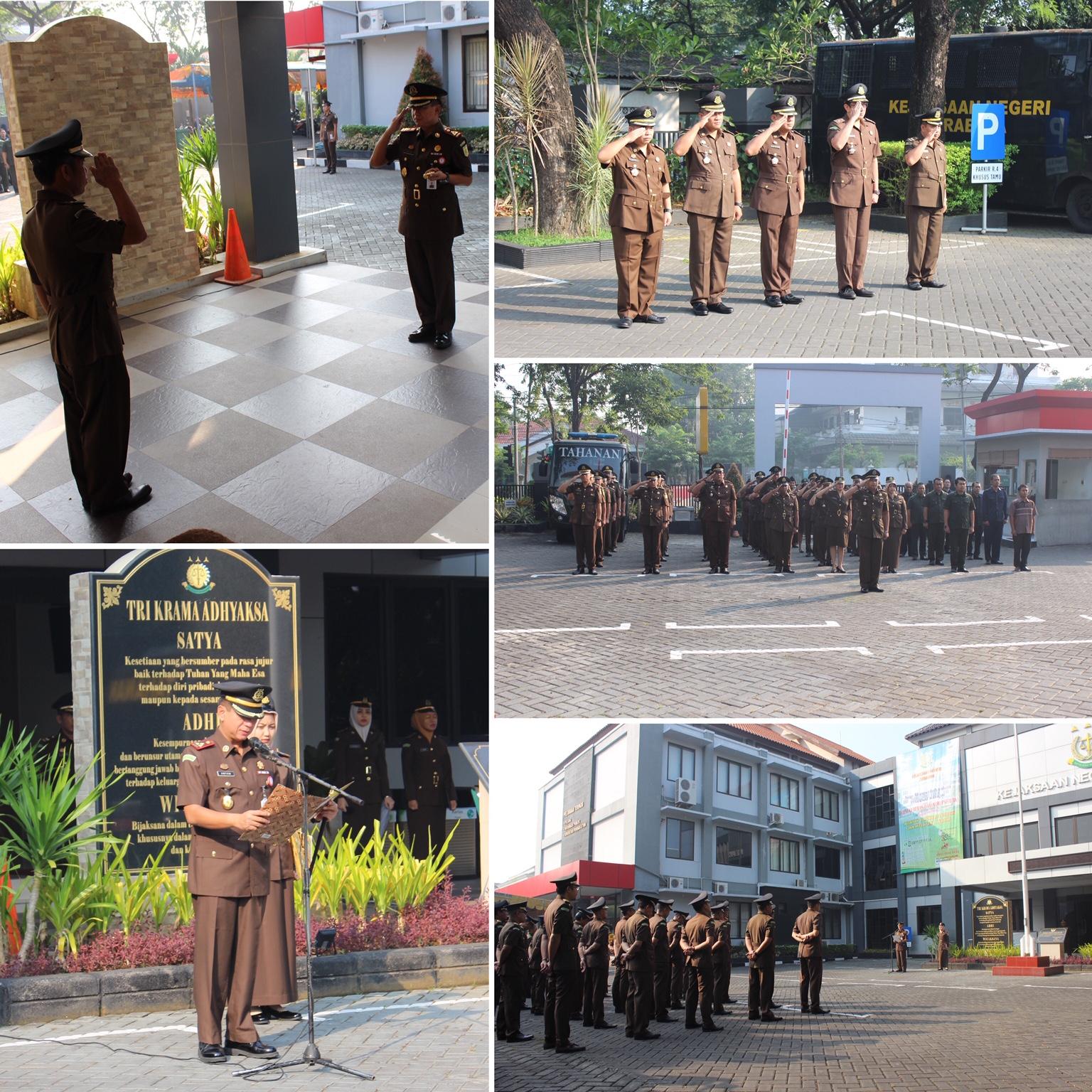 Upacara Peringatan Hari Kebangkitan Nasional yang ke-111 di Kejari Surabaya 20-05-2019
