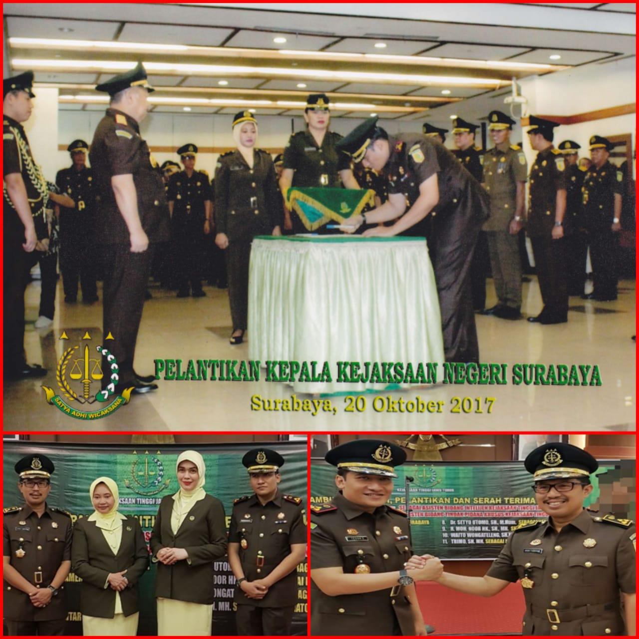 Serah Terima Jabatan Kepala Kejaksaan Negeri Surabaya 20-10-2017