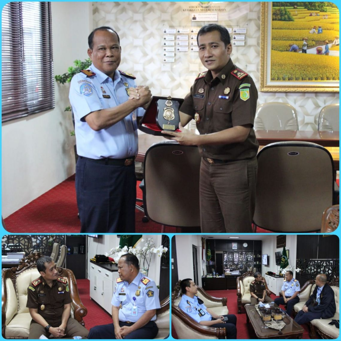 Silaturahmi Kepala Imigrasi Ke Kantor Kejaksaan Negeri Surabaya 02-01-2019