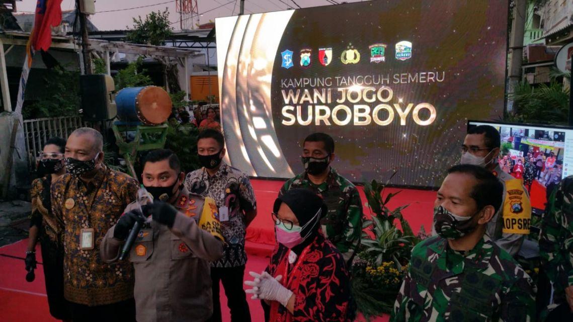 Launching Kampung Tangguh Wani Jogo Suroboyo di RW 04 Wonorejo Surabaya 12-06-2020