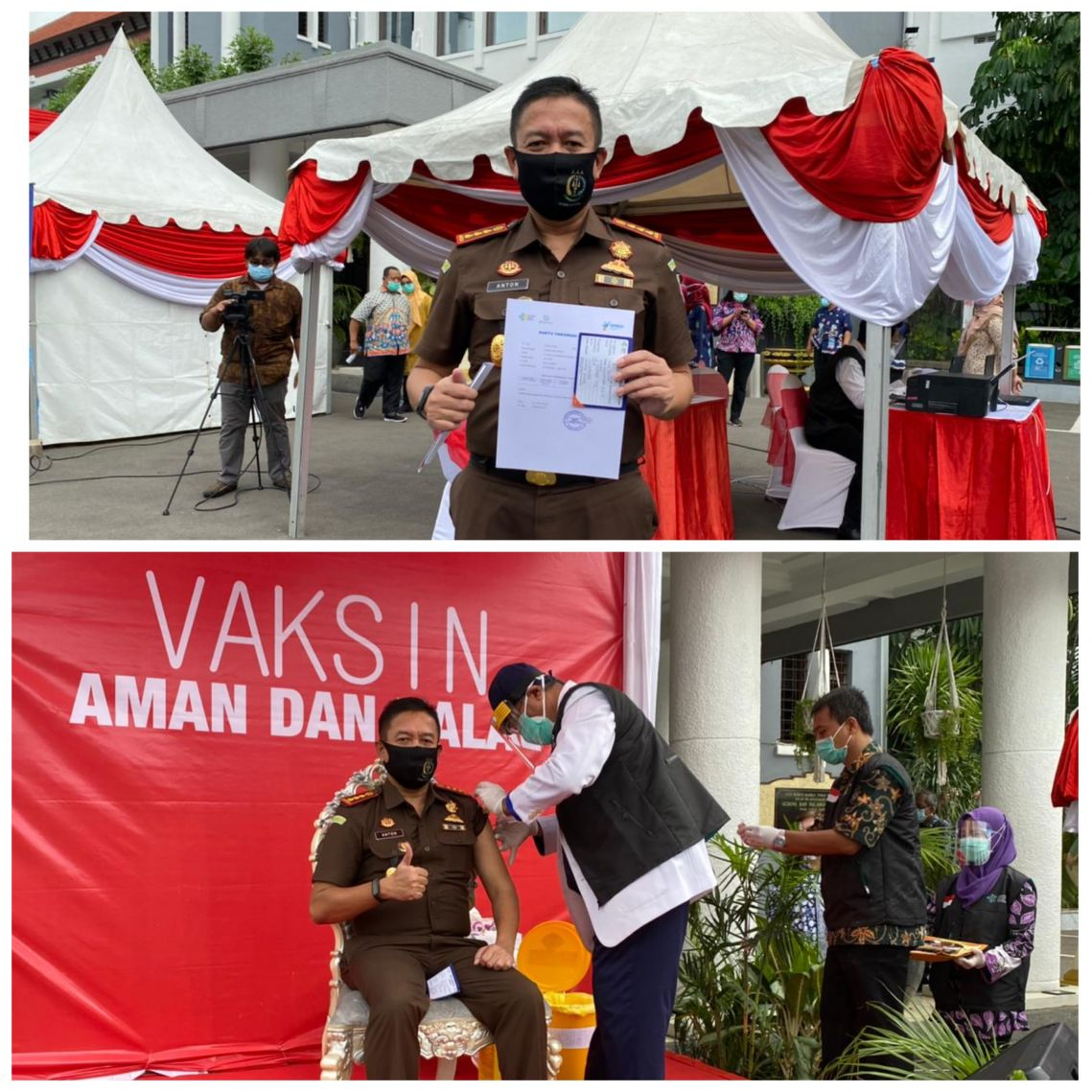 Vaksin Forkopimda Surabaya 15-01-2021