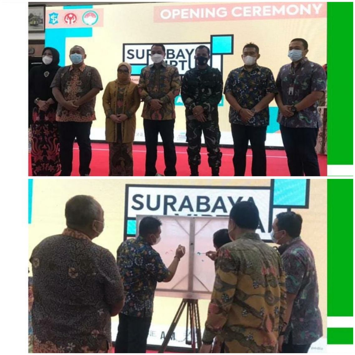 Pembukaan Surabaya Virtual Fashion, Craft and Culinary Expo 2021