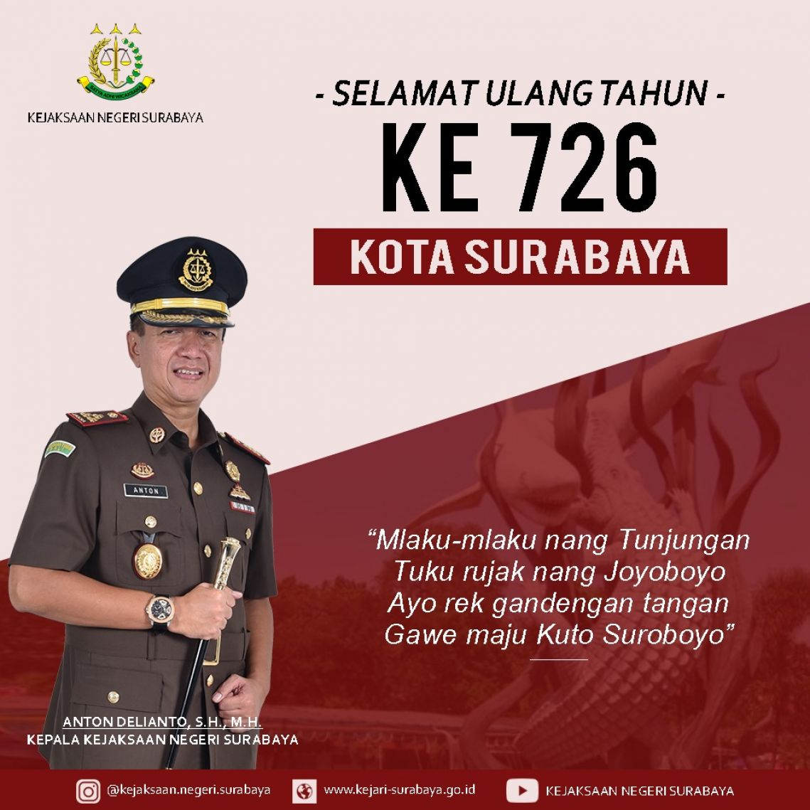 Hari Jadi Kota Surabaya ke 726 31-05-2019