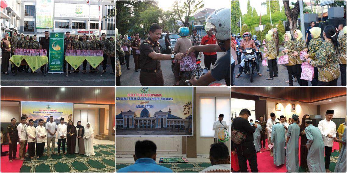 Buka Bersama dan Bagi Takjil Kejaksaan Negeri Surabaya 28-05-2019