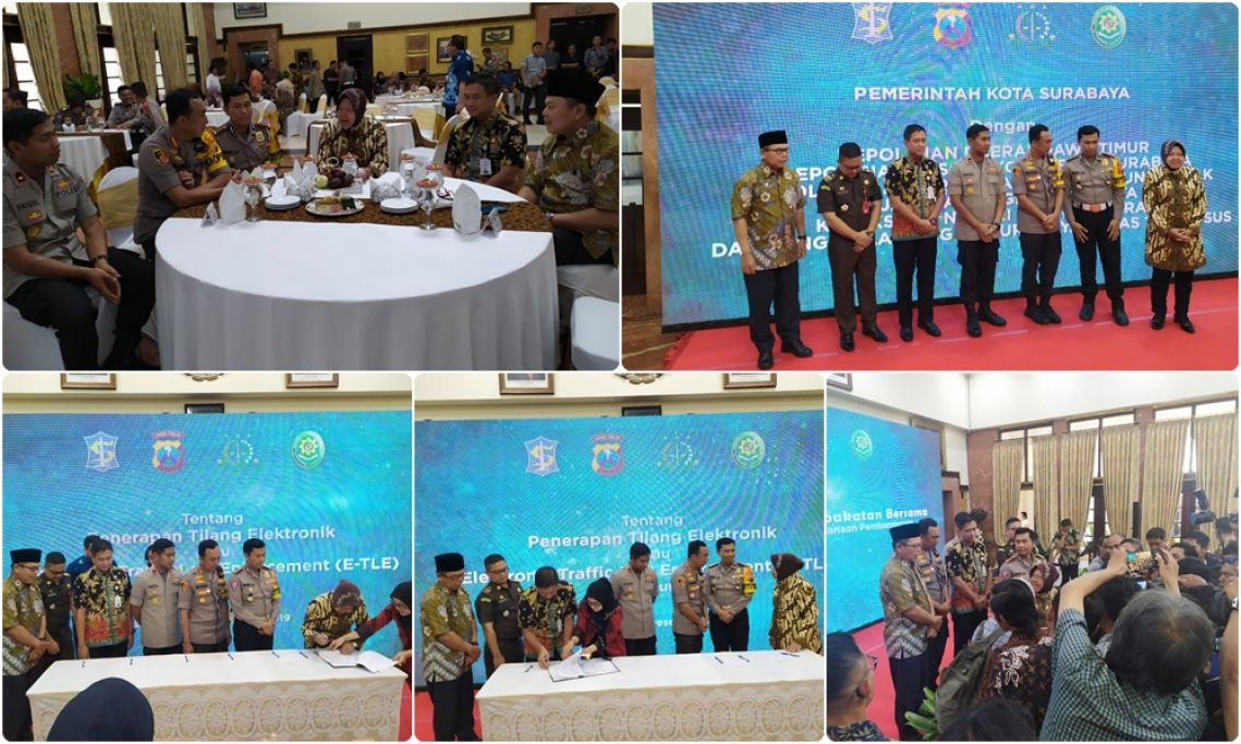 Penandatangan CCTV E-Tilang atau electronic traffic law enforcement E-TLE, 27-12-2019