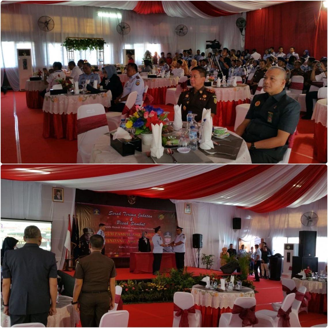 Sertijab dan Pisah Sambut Kepala Rutan Kelas 1 Surabaya 22-01-2020