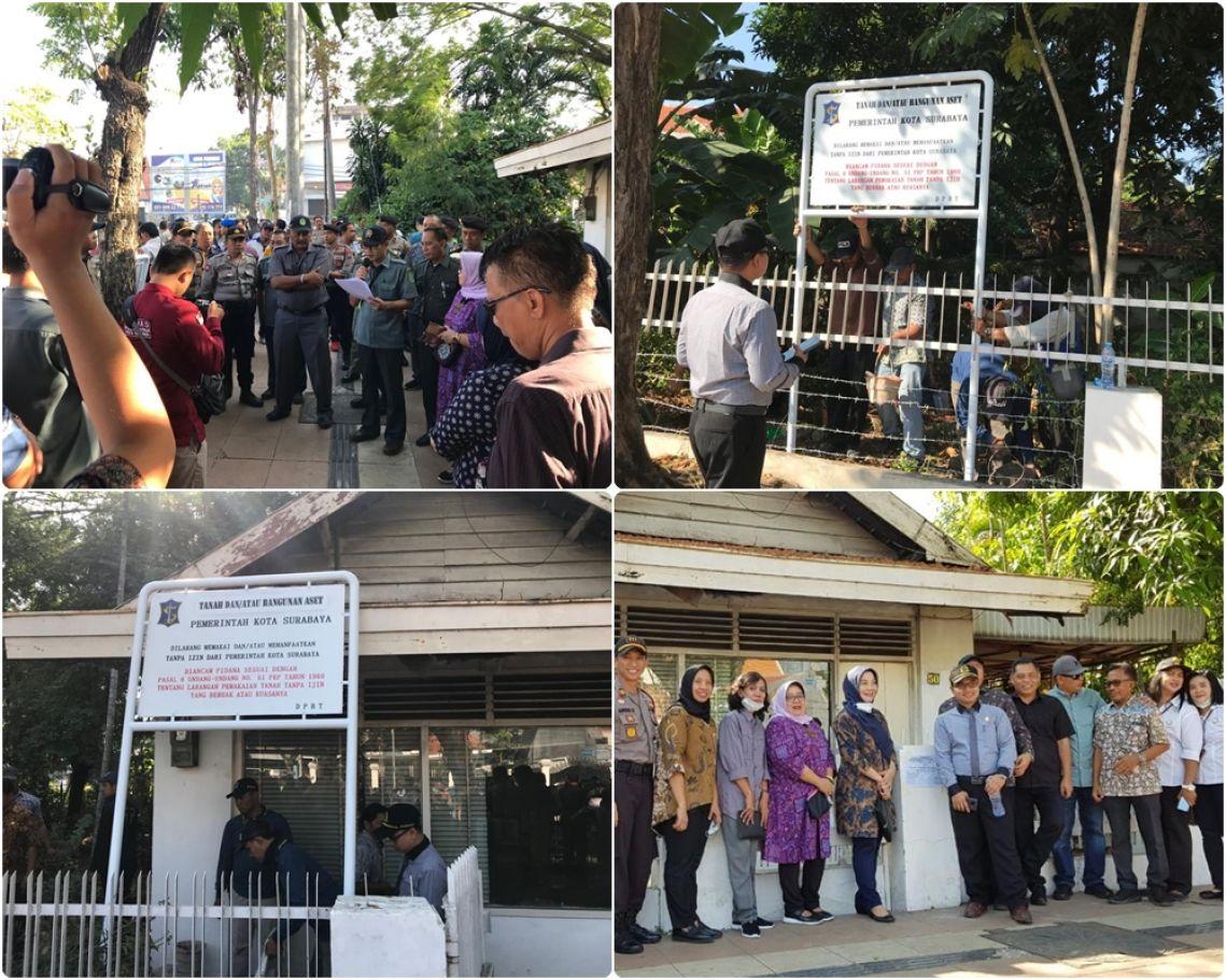 Pengamanan Aset di Jalan Wijaya Kusuma No.50 Surabaya 17-07-2019