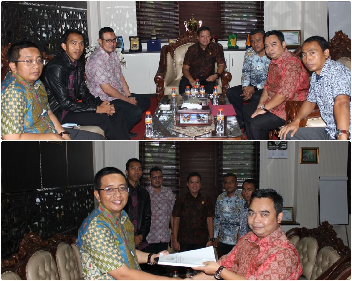 Serah Terima Tanggung jawab Ketua Tim Kerja Pembangunan Zona Integritas ZI Wilayah Birokrasi Bersih Melayani WBBM 24-01-2020