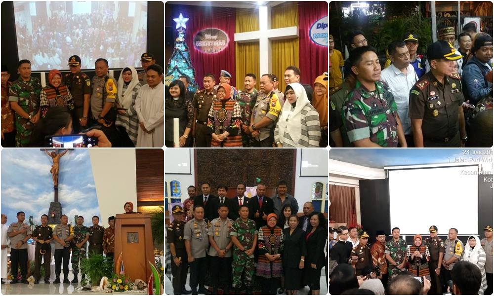 Kajari Surabaya, Walikota Surabaya dan Forkopimda melaksanakan kegiatan Pemantauan Pengamanan Natal.