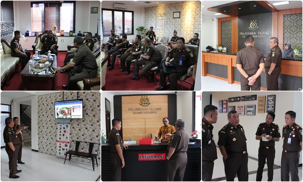 Kunjungan Inspektur V pada Jaksa Agung Muda Bidang Pengawasan Kejaksaan Agung RI 08-08-2019