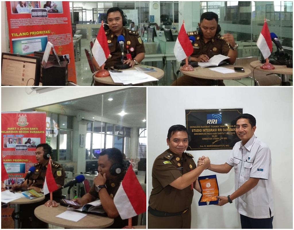 Kegiatan Jaksa Menyapa di RRI Pro 1 Surabaya , 14-10- 2019