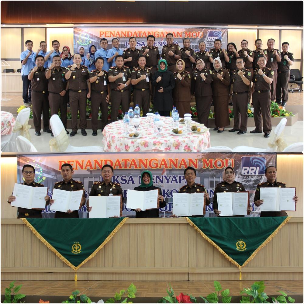 MoU antara Kejaksaan se-Koordinator Surabaya, Bojonegoro dan Kediri dengan RRI 11-03-2020