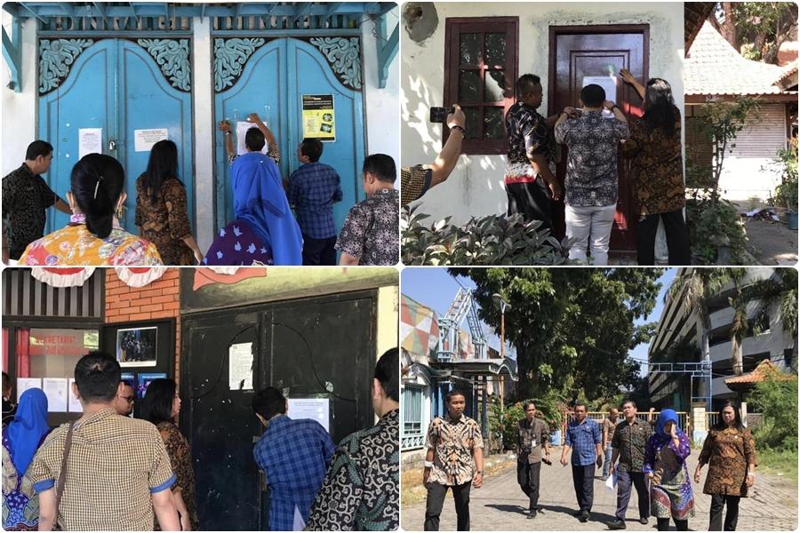 Pemberitahuan Pengosongan Bangunan di Taman Hiburan Rakyat THR Surabaya 12-07-2019