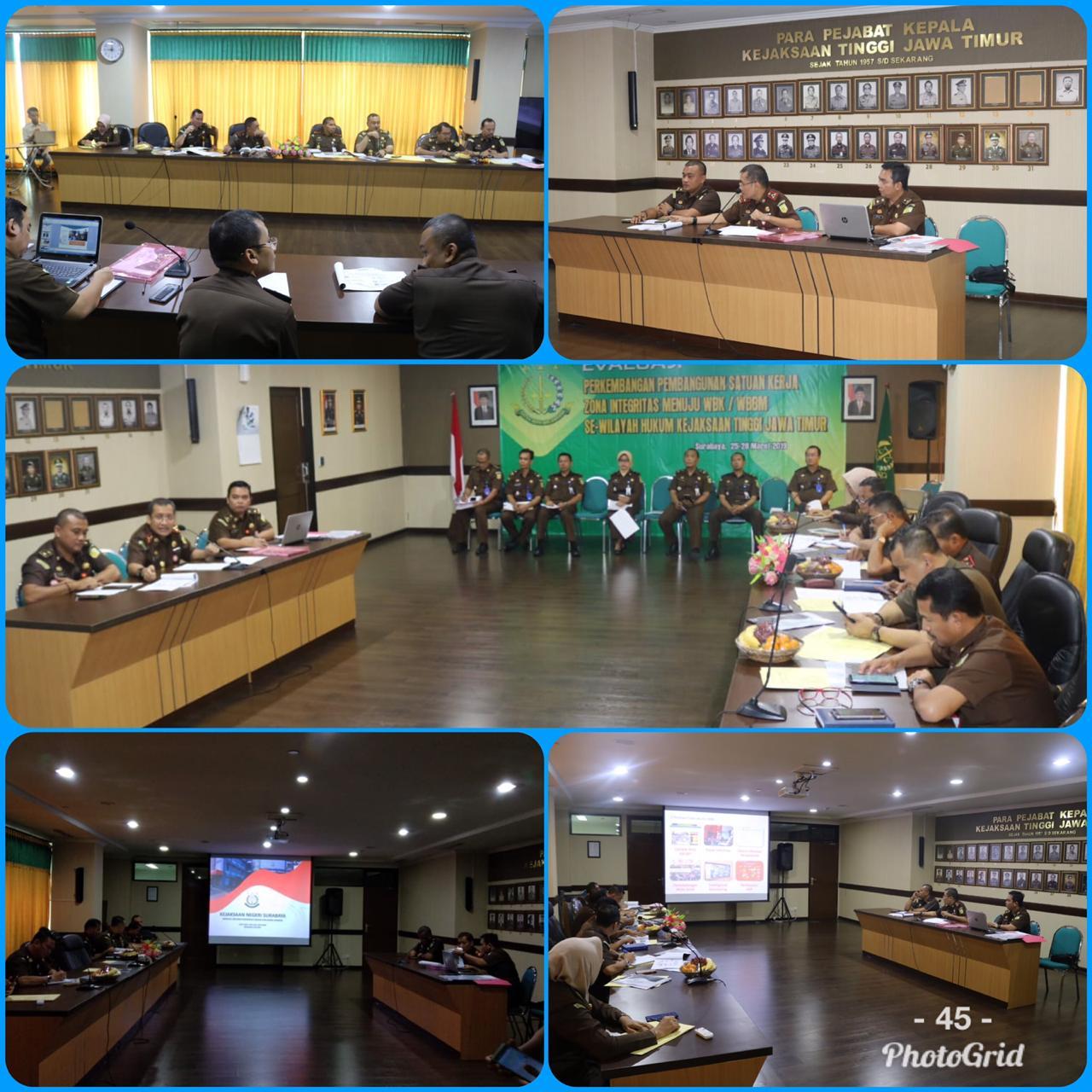 Evaluasi Perkembangan Pembangunan Satuan Kerja Zona Integritas Menuju WBK/WBBM 25-03-2019
