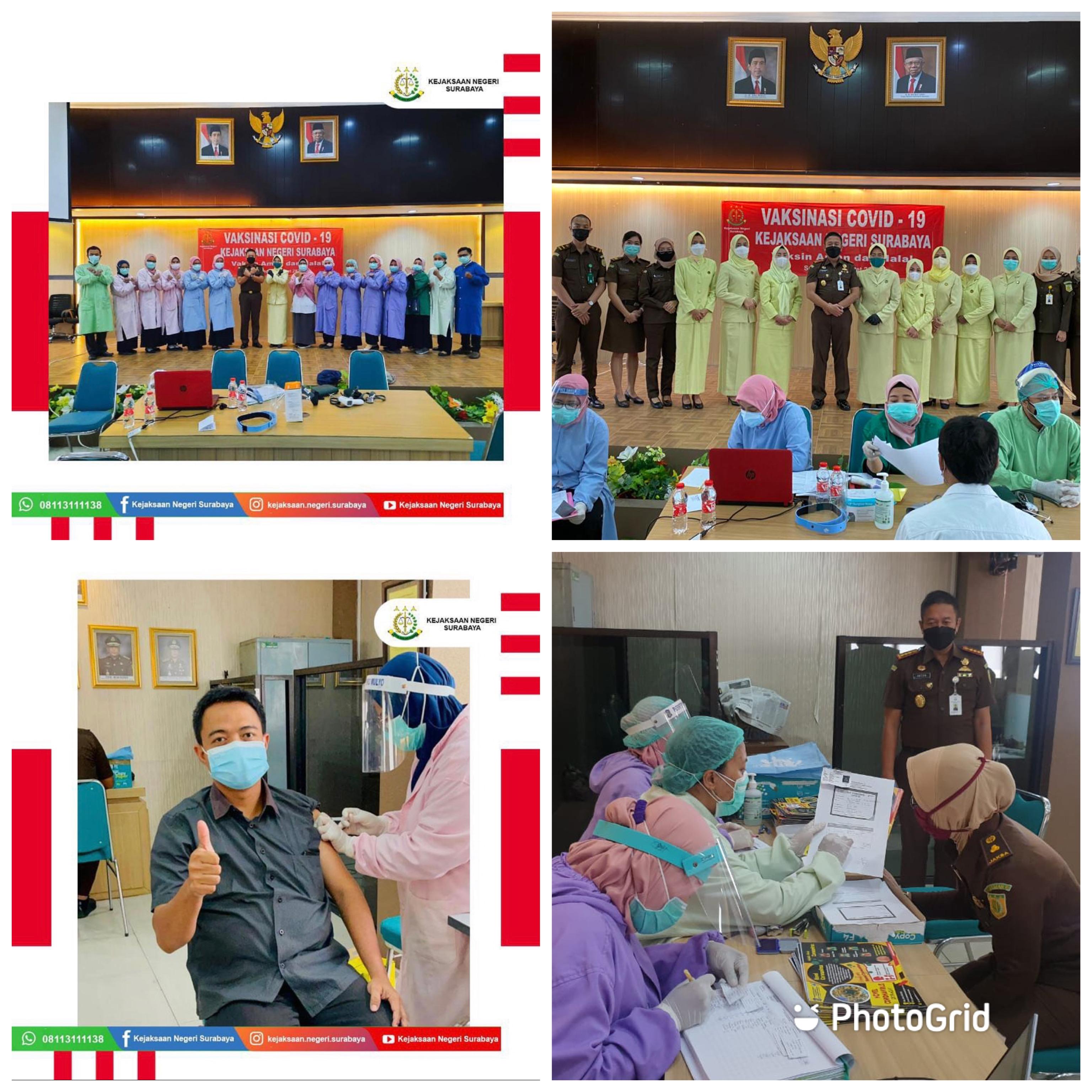 Vaksinasi Covid-19 Kejaksaan Negeri Surabaya 03-03-2021