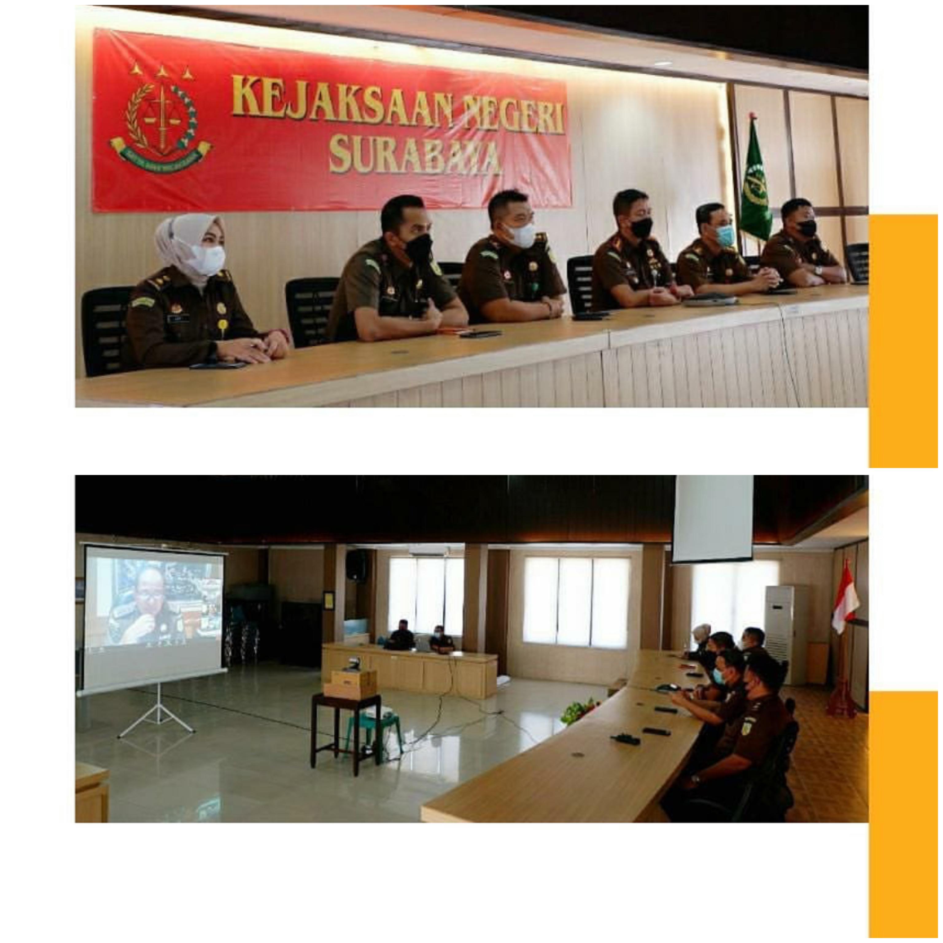 Sosialisasi dan Internalisasi Ketua Tim Pengarah Reformasi Birokrasi Kejaksaan RI 20-04-2021
