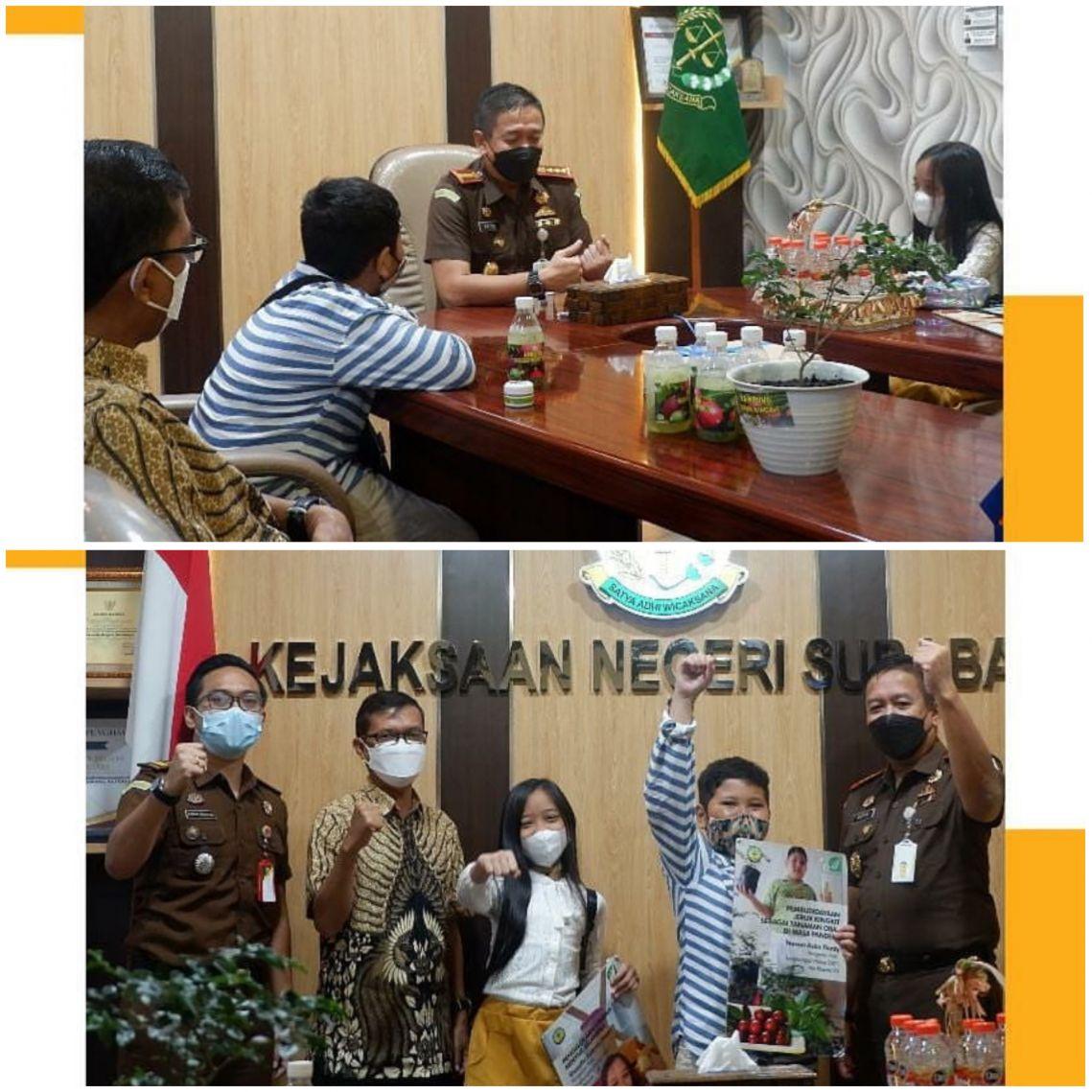 Kunjungan dari SDN Kaliasin 1 Kota Surabaya 21-06-2021