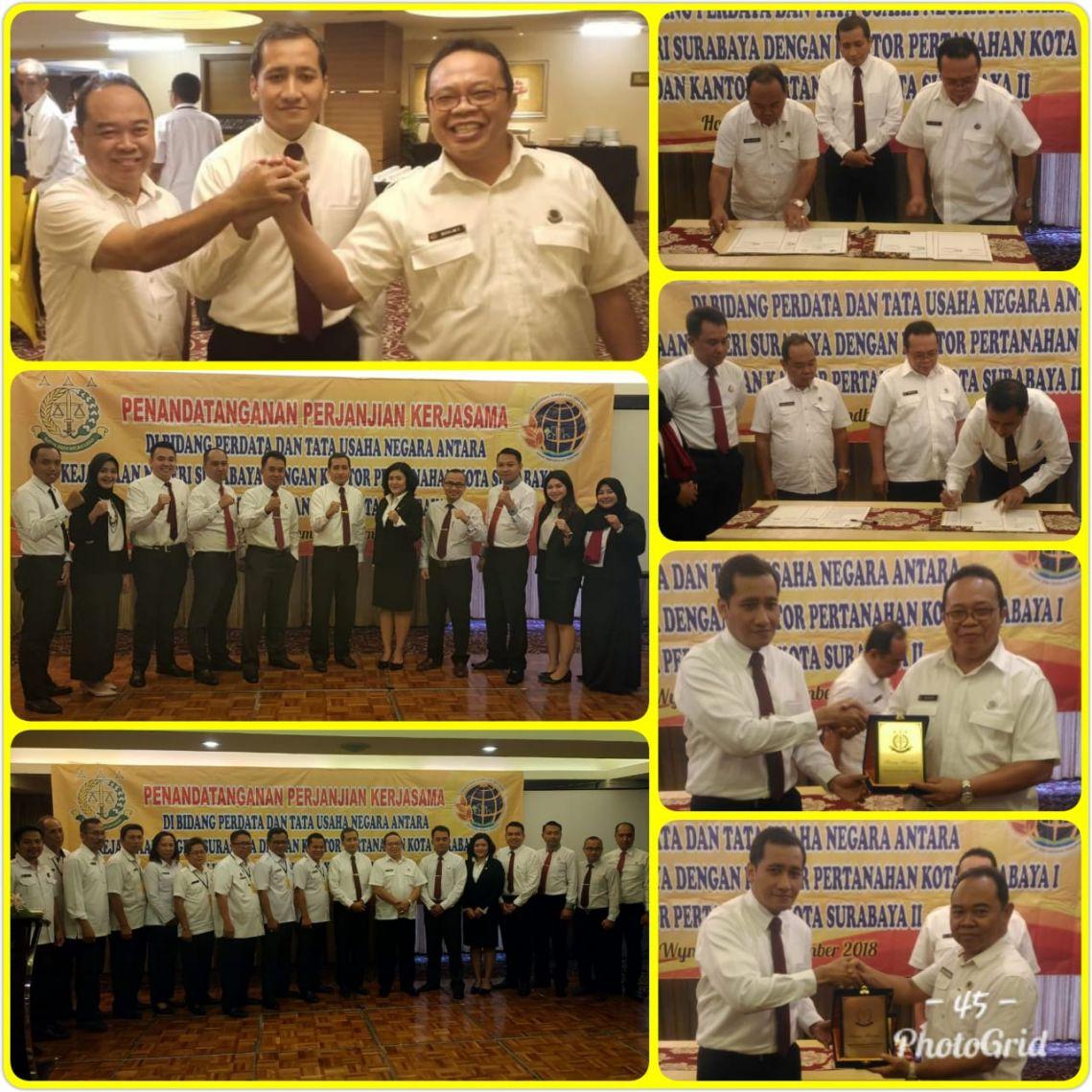 Penandatanganan Kerjasama BPN dengan Kejaksaan Negeri Surabaya 28-11-2018