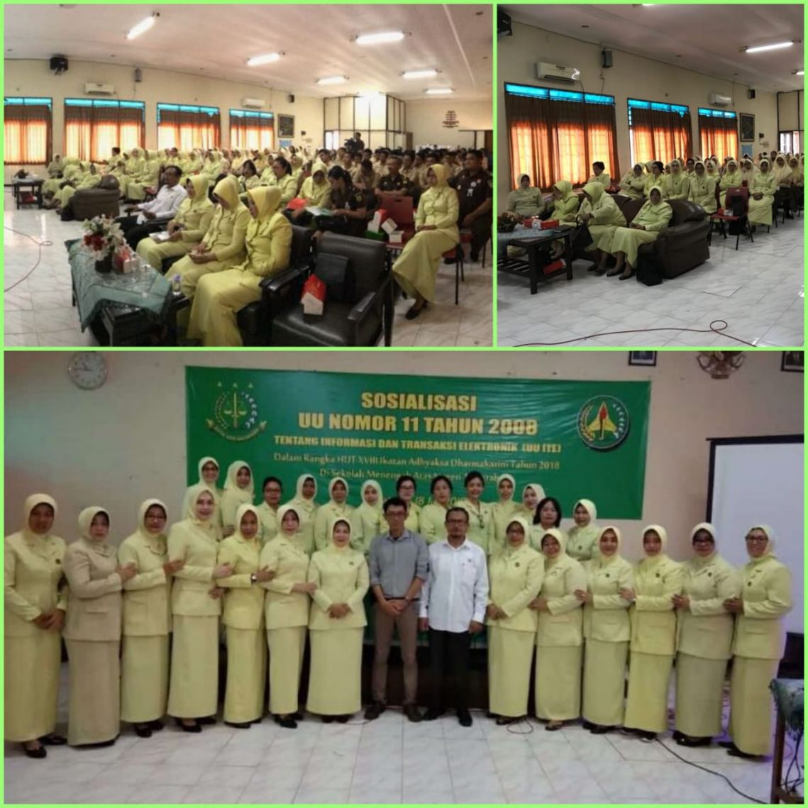 Sosialisasi UU I.T.E. di SMAN 15 Surabaya 18-07-2018