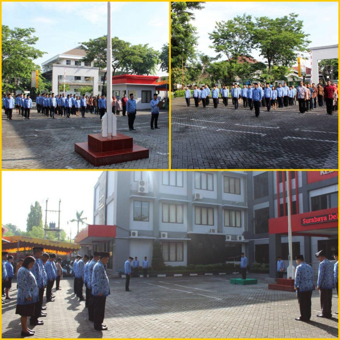 Upacara peringatan Hari Korps Pegawai Republik Indonesia KORPRI 29-11-2017