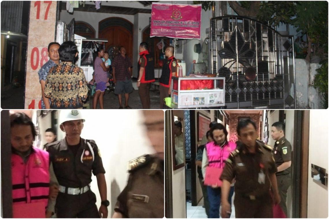 Jaksa Pidsus kejaksaan negeri surabaya menetapkan tersangka dan melakukan penahanan kredit fiktif pada BRI 25-07-2019