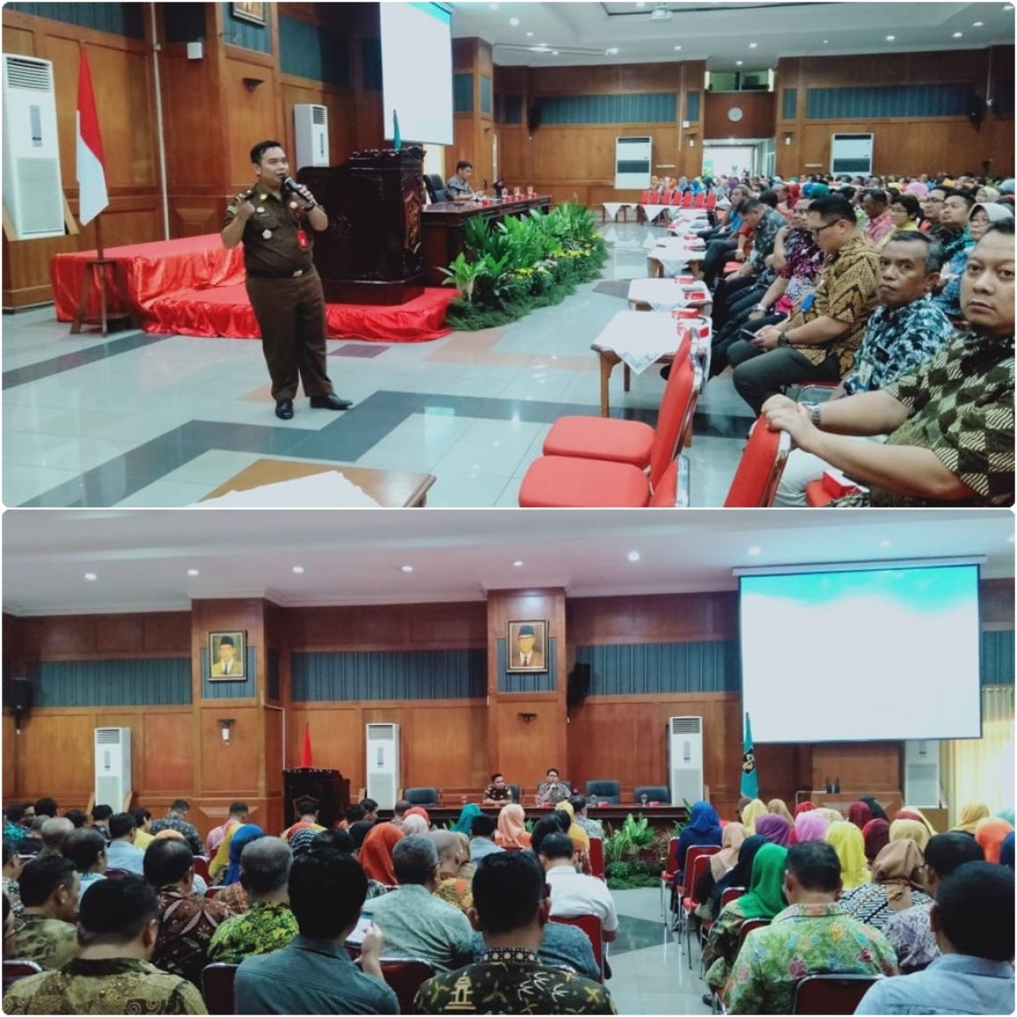 Sosialisasi dan Pembinaan dengan tema Pencegahan dan Penindakan Tipikor Dalam Pengelolaan Dana Kelurahan 22-02-2020