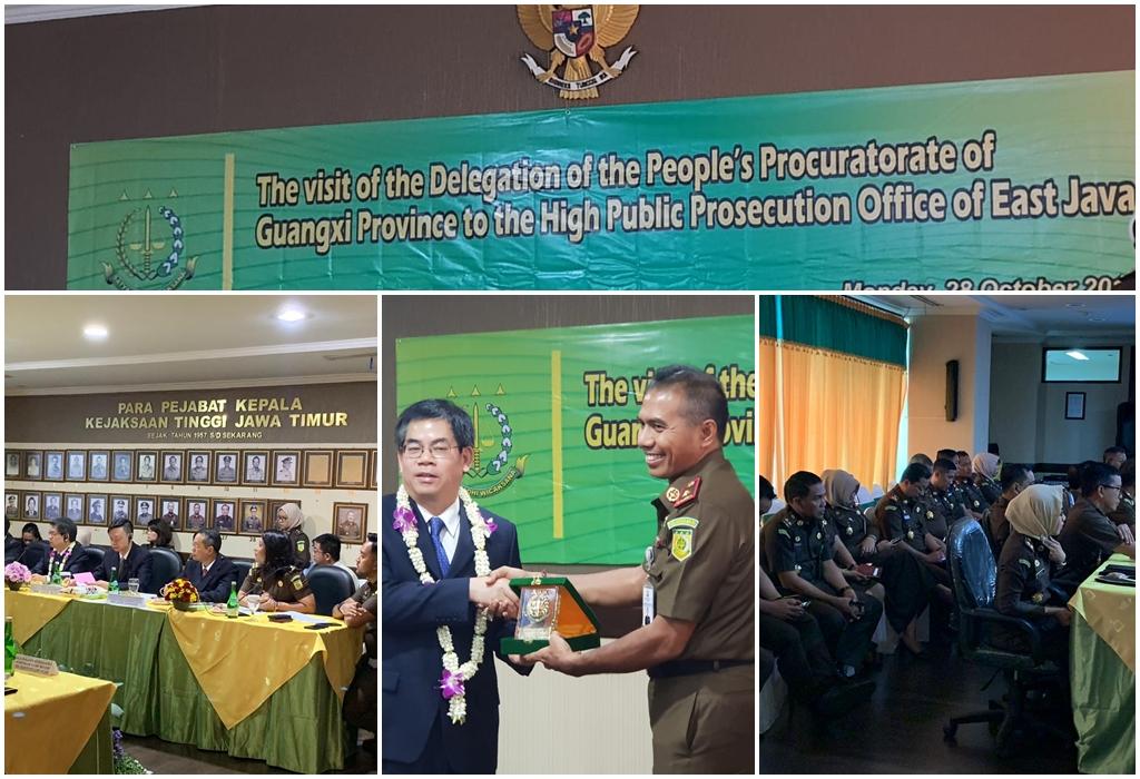Kunjungan dari Rombongan Jaksa Guangxi Zhuang dan Kejaksaan Agung Republik indonesia,27-10-2019
