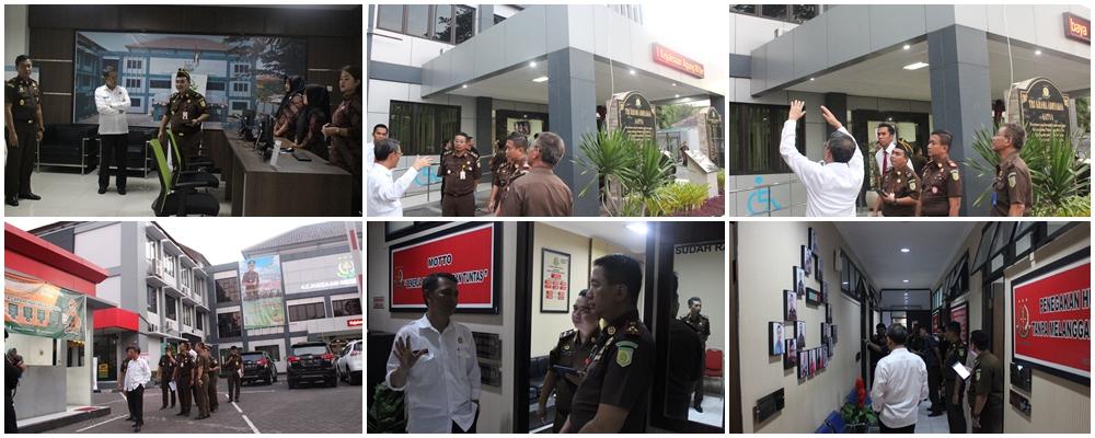 Kunjungan Kepala Pusat Daskrimti dalam rangka sebelum penilaian WBBM pada Kejaksaan Negeri Surabaya 06-11-2019